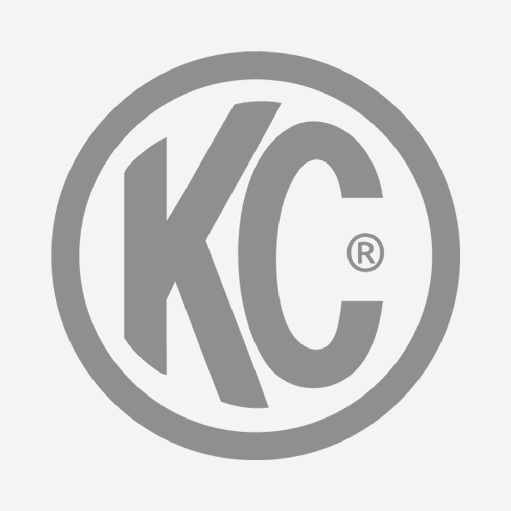 """KC HiLites 6"""" Vinyl Cover - KC #5110 (Black with Red Brushed KC Logo)"""