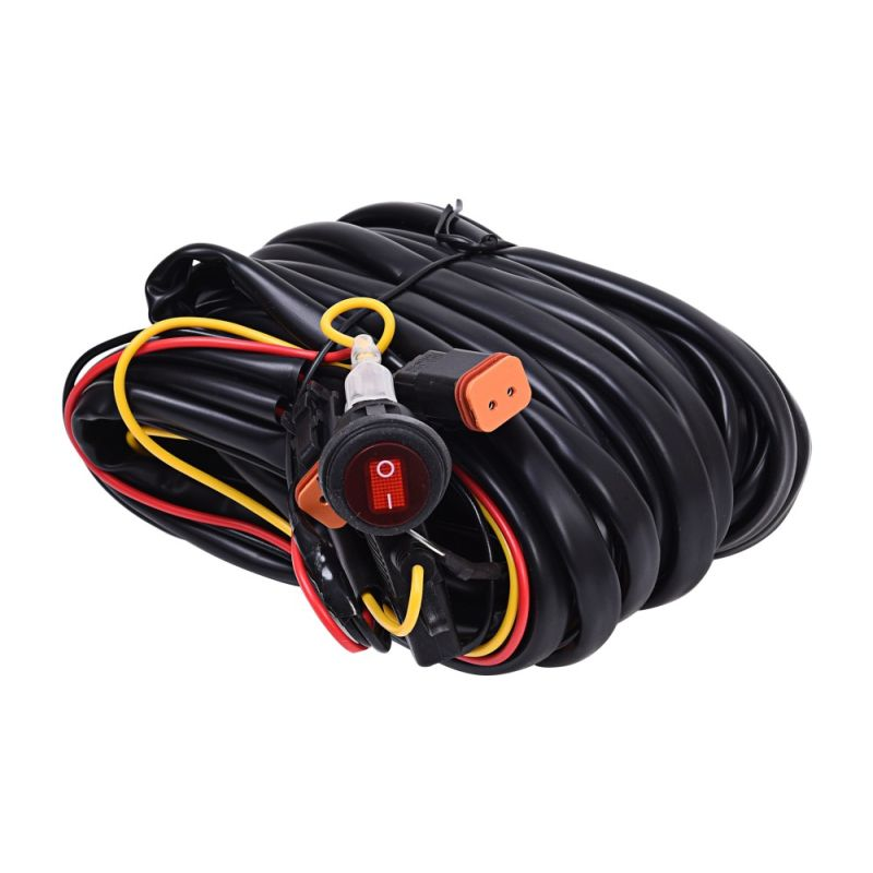 Wiring Harness for Two Backup Lights with 2-Pin Deutsch Connectors