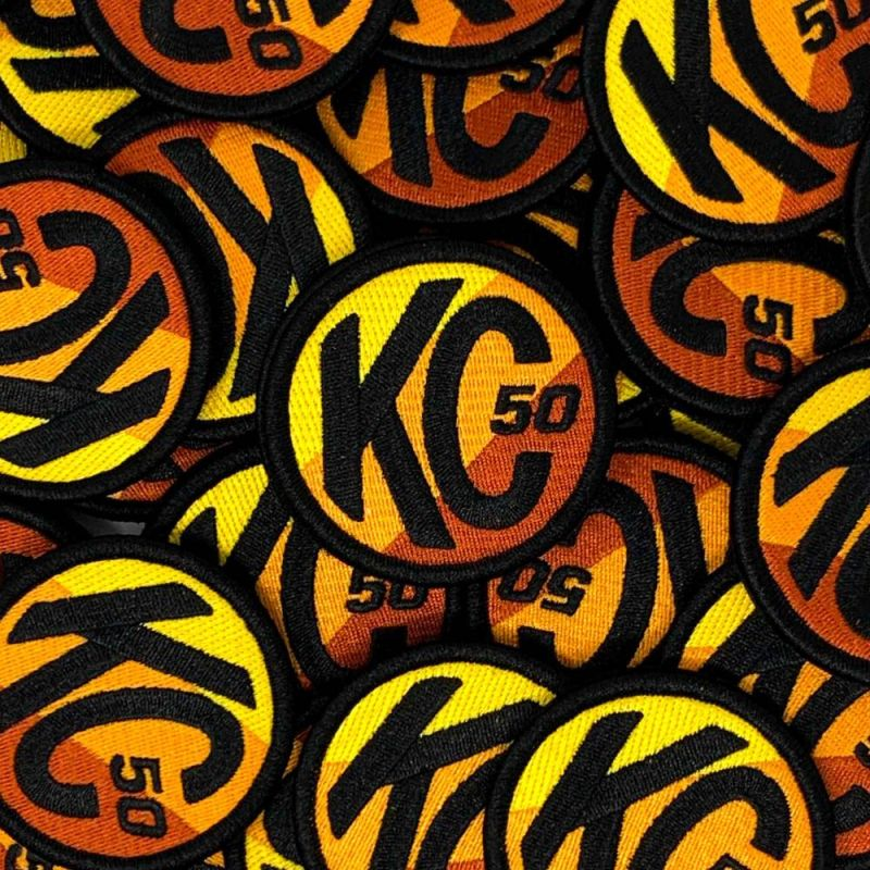 KC Racer 50 Hook and Loop Patch - Round - 2.5