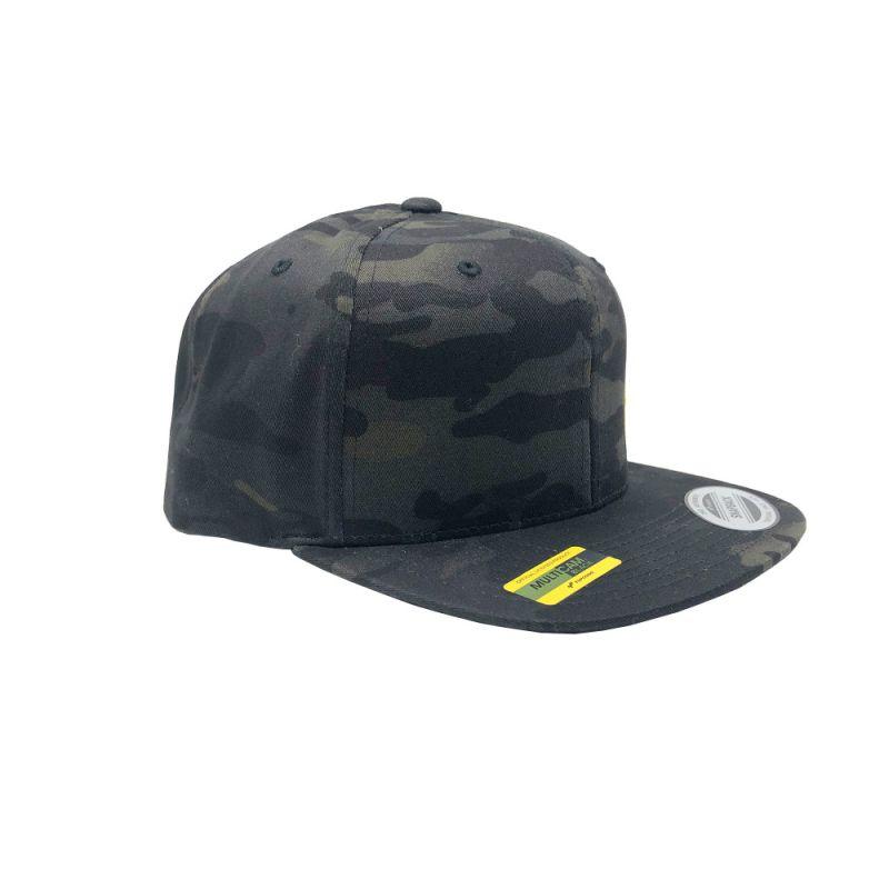 KC Logo - Flat Bill Snapback Trucker Hat - Black MultiCam - One Size