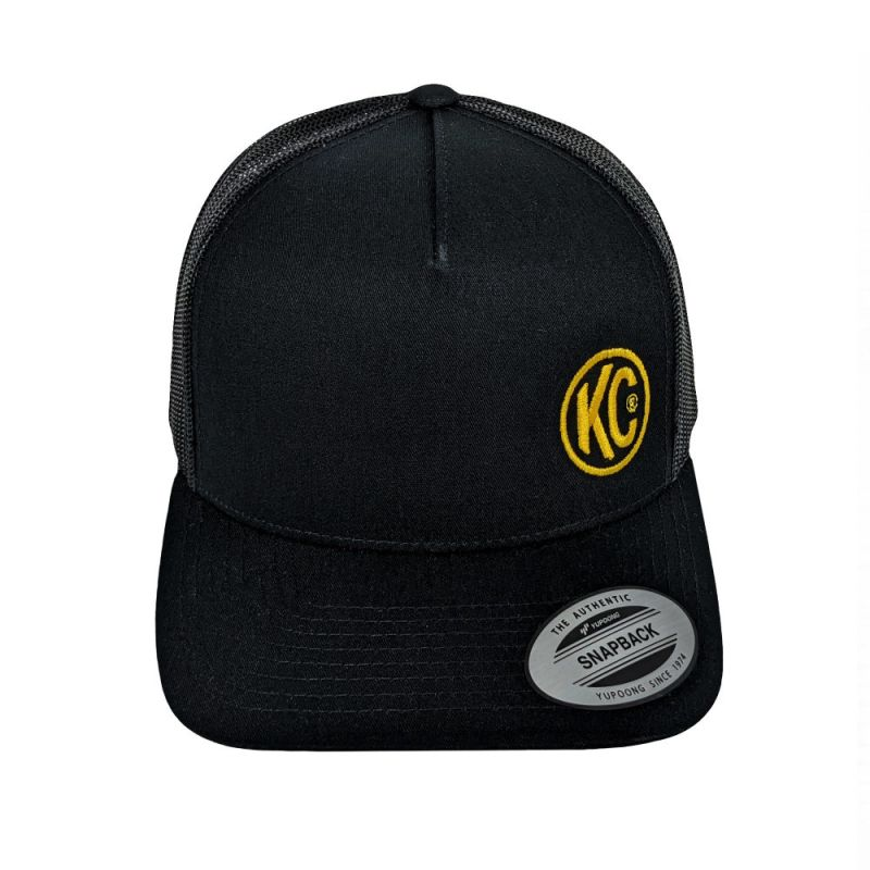 KC Curved Bill Trucker Hat - Black - One Size
