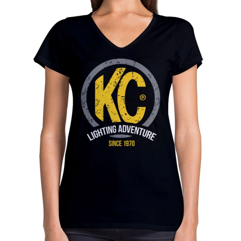 Women's Black KC Premium V-Neck S-XL