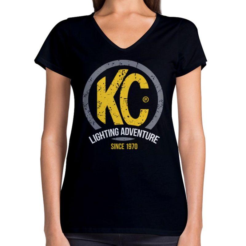 KC Lighting Premium Women's V-Neck Tee Shirt - Black - X-Large