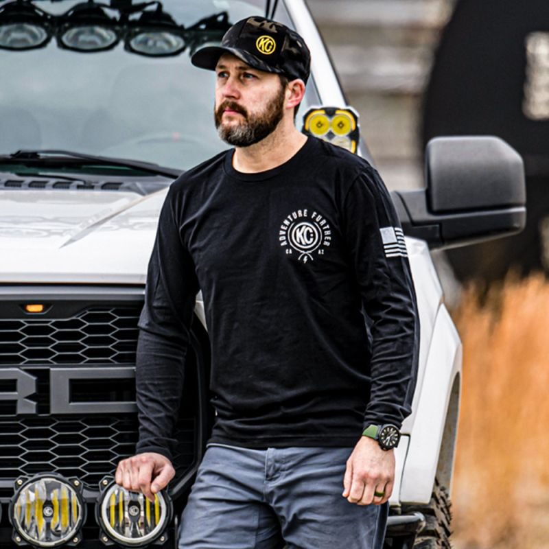 KC Trailblazer Long Sleeve Tee Shirt - Black - X-Large
