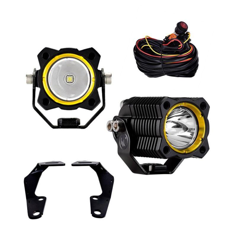 KC FLEX™ LED - Pillar / Ditch Mount - 2-Light System - 10W Spot Beam - for 10-20 Toyota 4Runner