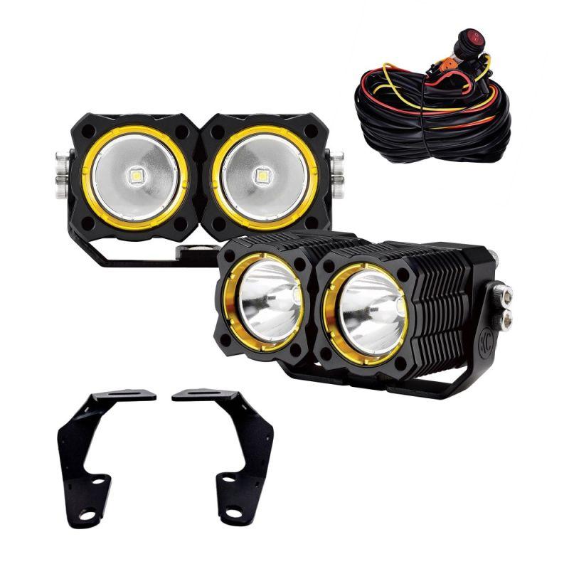 KC FLEX™ LED Dual - Pillar / Ditch Mount - 2-Light System - 20W Spot Beam - for 10-20 Toyota 4Runner