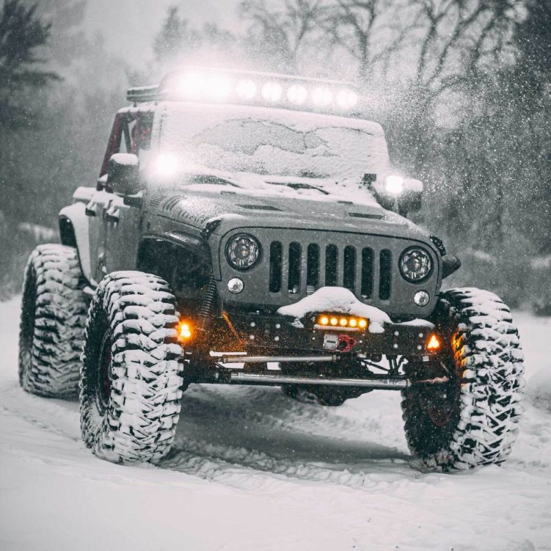 FLEX ERA® 4 - 2-Light System - Pillar Mount - 80W Spot Beam - for Jeep JK