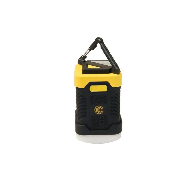 KC LED Power Lantern / Power Bank - Rubberized Casing - Black / Yellow