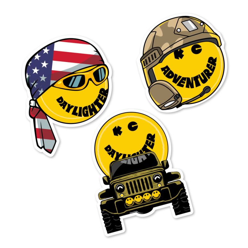 KC HiLiTES Daylighter Personas Decals - 3 Pack