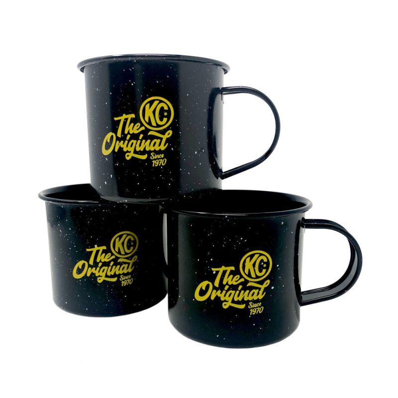 Mug - Enamel - 50th Anniversary - Black / Yellow KC Logo